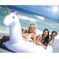Wholesale Inflatable Toys For Women - Largest 270cm Inflatable Unicorn Swimming Giant Floats Ring Ride-On Pool Beach Water Large Toys for Women Girl Men Adults Kids Raft DHL Free