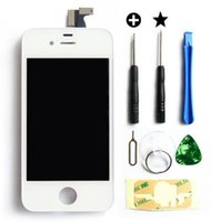 Wholesale Iphone 4s Digitizer Frame Bezel - White Black LCD Touch Screen Lens Display Digitizer Assembly Replacement Assembly Bezel Frame for iPhone 4S with Repair Tools
