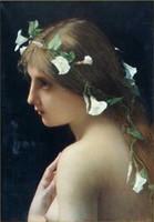 ingrosso pittura ad olio belle ragazze-Incorniciato BEAUTIFUL GIRL, 100% Artigianato ritratto Arte Pittura ad olio di alta qualità su tela spessa, taglie disponibili tn 058