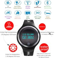 Wholesale Wrist Watch Tracking - Wholesale- 2017 Sports GPS movement activity smart bracelet watch Six-axis G-sensor Smart Bracelet fitness tracking for Android iOS E07