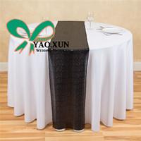 Wholesale Cheap Cloth Table Runners - Cheap Price Sequin Table Runner \ Wedding Table Cloth Runner Decoration