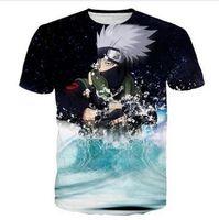 Wholesale Kakashi Shirt - Newest Fashion Hot Sale Womens mens Classic Anime Naruto Kakashi Funny 3D Print Casual T-Shirt AB116