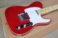 Wholesale Red Maple Standard Electric Guitar - Wholesale- Wholesale China Factory Custom Shop Basswood body Maple Fingerboard Telecaster Red Standard Electric Guitar Free Shipping