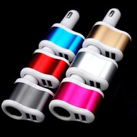 Universal Auto 3.1A Dual USB Car Charger One Way Car cigarrillo encendedor adaptador de enchufe Cargador para iphone Mp3 Mp4 Gps