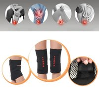 magnetic therapy pads 2018 - Wholesale- 2 Pcs tourmaline health care magnetic therapy self-heating knee pads knee support protection Hot Sale