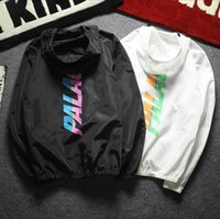 Wholesale Skateboard Double - kanye west Jacket High Quality Spring off white Jacket Men Windbreaker Sunscreen Cat Double Jacket Street Reflective Skateboard