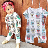 Wholesale Ice Cream 2t - 2 styles Baby ice cream print romper short sleev and long sleeve infants cute summer outfits for 0-2T