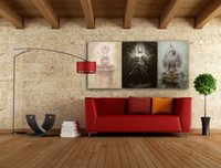 Wholesale Oil Painting Goddess - Single Unframed Chinese Femail Goddess Guanyin Oil Painting Spray Painting On Canvas Giclee Wall Art Picture For Home Decor
