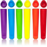 renkli çubuklar toptan satış-DIY Renkli Silikon Buz Lolly Maker Silika Jel Popsicle Kalıp Tepsi Düz Renk El Düzenlenen Popsicles Araçları Kalıpları Yumuşak Sticks 1 5zg R