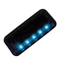 Wholesale Install Sensor Light - 1Pc New Arrival 5 LED Auto Solar Charger Car Burglar Alarm Lamp Sensor Security Warning Light No Need To Install