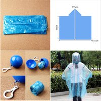 Wholesale Disposable Ponchos - Portable thin outdoor raincoat in 6 colors for hiking gardening or emergency disposable poncho ball free shipping