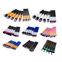 Wholesale Cheap Puffs - New Cheap Brush Kit Professional Vander 10pcs Cream Power Professional Makeup Brushes Multipurpose Beauty Cosmetic Puff