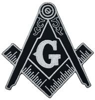 costurar manchas para roupas venda por atacado-Venda quente! Remendo Bússola Maçônica Bordado Iron-On Roupas Freemason Lodge Emblema Mason G Emblema Costurar Em Qualquer Vestuário Frete Grátis