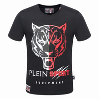 Wholesale Brand Designer Tshirts - pp8202 M-3XL 2017 new style Tide brand men's Tshirts Hot drilling and printing Designer Men Sports Series T-shirts Stretch cotton