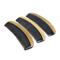 Wholesale Natural Horn Hair Comb - Natural Palo Santo Wood Horn Combs Message High Quality Wooden Combs Free Shipping For Wholesale.