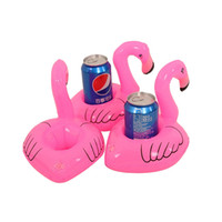 Wholesale Mini Flamingo Floating Inflatable for Party or Pool office Decoration Kids Toy Coasters Drink or Cell Phone Holder Stand