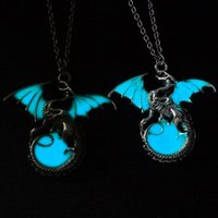 Wholesale Girls Dragon Jewelry - Game of Thrones Glow in the Dark Dragon Pendant Necklace Punk Vintage Jewelry Gift for Boys Girls Friend