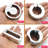 Wholesale Male Chastity Stainless Steel Ball - Stainless Steel Heavy Ball Stretcher Male Chastity sex toy A296