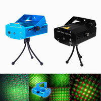 Wholesale dj tripods - Free DHL Mini Red Green Moving Party Stage Laser Light lighting Projector with tripod laser DJ party disco light 150mW 110-240V