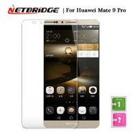 Wholesale Screen Protection For Huawei - Wholesale- For Huawei Mate 9   Mate 9 Pro Screen Protector Tempered Glass Phone Protection Film 2.5D Edge 9H Hardness Front Film