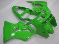 Wholesale 98 Zx6r Fairings - ABS Fairing for Kawasaki Zx6r 1999 Bodywork Zx6r 1998 Green Fairing Kits 636 Zx-6r 98 1998 - 1999