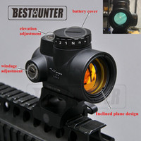 montaje de rifle al por mayor-Trijicon MRO Style Holográfico Red Dot Sight Optic Scope Tactical Gear Airsoft Con 20mm Scope Mount Para Caza Rifle