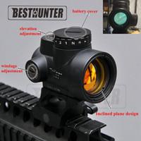 vue sur les fusils achat en gros de-Vitesse tactique holographique de point optique de vue de point rouge olographe de Trijicon Ms Airsoft avec le support de portée de 20mm pour le fusil de chasse