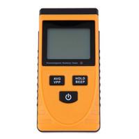 lcd dijital sayaç toptan satış-Toptan-Yeni Dijital LCD Ses-ışık Alarm Elektromanyetik Radyasyon Dedektörü Bimodule Senkron Testi Metre Dozimetre Tester Sayaç