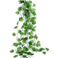 ingrosso piante da giardino decorazione-All'ingrosso-Matrimonio Casa Decorazione del giardino Artificiale Edera Foglia Ghirlanda Piante Vite Fogliame finto Foglia verde Anguria Pianta in rattan