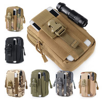 Wholesale military mobile phones - Unisex Outdoor Sport Casual Tactical Belt Loops Waist Bag Molle Military Waist Fanny Pack Smartphone Mobile Phone Case 2509001