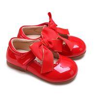 20b1d32664845 Pettigirl 2017 Robe Chaussures Bébé Filles Chaussures En Microfibre Rouge  En Cuir Fait À La Main Enfants Chaussures (Sans Boîte À Chaussures)