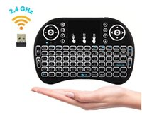 Wholesale Hot Rii - Hot Sale Fly Mouse For Google Tv Box MINI PC Touch Flying Squirrel A21 2.4G Wireless Qwerty Wifi keyboard With Smart TV A21 RII I8 Free DHL