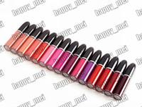 Wholesale original lipsticks resale online - ePacket New Makeup Lips Original Plate Retro Matte Lip Gloss Matte Liquid Lipstick ml