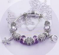 Wholesale Murano Glass Pendants Snake - Wholesale 925 Sterling Silver Murano Glass & Crystal European Charm Beads Pendant Fits Snake ChainCharm bracelets Style Bracelet Jewelry DIY