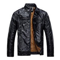 Wholesale Brand New Men Leather Jackets Pu Leather Jaqueta Masculinas Inverno Couro Coat Men Jaquetas De Couro Men s Winter Leather Jacket