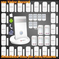 LS111- EMS / DHL / FEDEX Freies Verschiffen! KERUI IOS / Android APP Arm / Disarm Wireless GSM Auto Anrufen Home Secure Burglar Voice Smart Alarm Kit