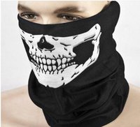 Wholesale Half Skulls - Multi Function Skull Face Mask Outdoor Sports Ski Bike Motorcycle Scarves Bandana CS Neck Snood halloween Party Cosplay Full Face Masks