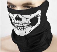 ingrosso bandana multi-sciarpa della bici-Multi Function Skull Face Mask Sport all'aria aperta Sci Bike Moto Sciarpe Bandana CS collo Snood Halloween Party Cosplay maschere a pieno facciale