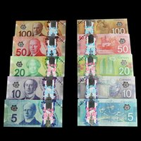 Wholesale Wholesale Tvs Canada - 500PCS Canada CAD100 50 20 10 5 TV Video Props Money Training Banknotes Home Decoration Arts Gift Poker Game Chips Movie Props Money