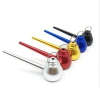 Metal Straight Type mix colors tea pot teapot Kettle Shape Mini Metal Smoking Tobacco Pipe Portable Herb Hand Pipe Tool Accessories 5 COLORS Aluminum Alloy