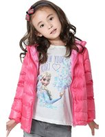 Wholesale Girls Puffer Down - CHERRY CHICK Kid's Ultralight Packable Hoodie Down Parka Jacket Boy&Girl Autumn Winter Puffer Coat Baby's Gift Present In Holiday Factory's!