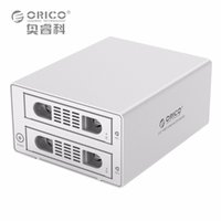 "Wholesale Hdd Dock Orico - Wholesale- ORICO 3529RUS3 Tool Free Aluminum 2 Bay 3.5"" SATA2.0 USB3.0&eSATA HDD External Docking Station RAID Function 2bay HDD Case"