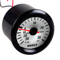 PSI Boost Gauges black psi - EE support Black Shell White Dial quot mm Car Universal LED Boost PSI Vacuum Gauge Meter XY01