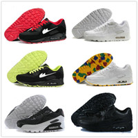 Wholesale American Flag Canvas Shoes - 2017 Air 90 HYP PRM QS Men Women Running Shoes Air 90s American Flag Black White Sport Trainers 2016 Running Shoes