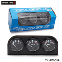 medidor de autos triple al por mayor-TANSKY- 52mm Kit de calibrador triple Coche 3in1 Vot Gauge Medidor de la temperatura del agua Medidor de presión de aceite o Medidor de la temperatura del aceite con sensor TK-AW-C3
