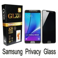 Wholesale Invisible Spy - For Samsung Note 4 5 Galaxy S8 S8 Plus S6 S7 J7 2017 J7 prime Invisible Private Anti-Spy screen protector privacy tempered glass