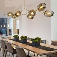 Wholesale Chrome Kitchen Pendant Light - Lindsey Adelman Chandeliers lighting modern lamp novelty pendant lamp natural tree branch suspension Christmas light hotel dinning room