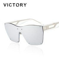 Wholesale Large Framed Mirrors Wholesale - Wholesale- Oversized Hip Hop Rimless Men Women Brand Designer Large Frame Mirror Sunglasses Male Shades UV400 Mirror Sun Glasses Female Hot