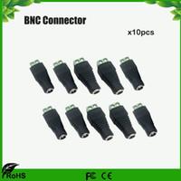 conector hembra fuente de alimentación dc al por mayor-Conector BNC Conector DC Jack hembra conector CCTV accesorio Envío gratis