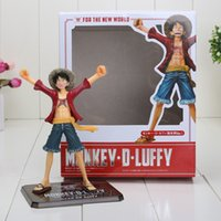 Wholesale one piece figures japanese anime - 16cm Japanese Anime Cartoon One Piece New World Luffy Action Figures PVC Tos Doll Model Collection